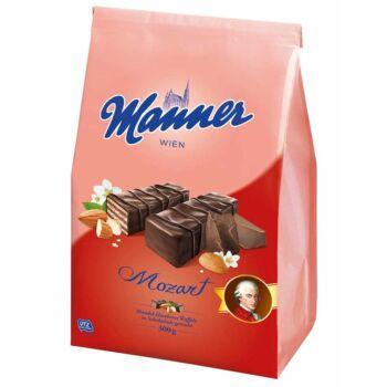 Manner Mozart Étcsokokoládéba Mártott, Mogyorós Krémmel Töltött Ropogós Ostyaszeletek 300 g