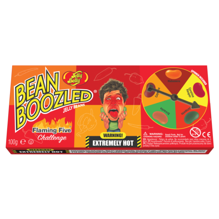 Bean Boozled New Csípős Lángoló Ötös Kihívás Játék 100g