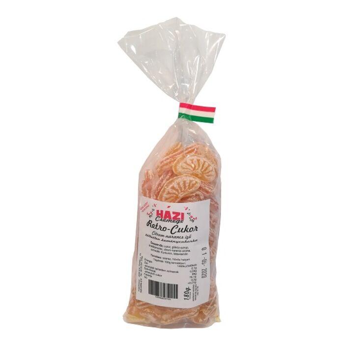Házi Csemege Retró Citrom-Narancs Ízű Cukorka 180g