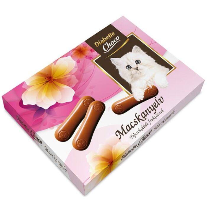 Diabette Choco Macskanyelv Tejcsokoládé Fruktózzal 80g