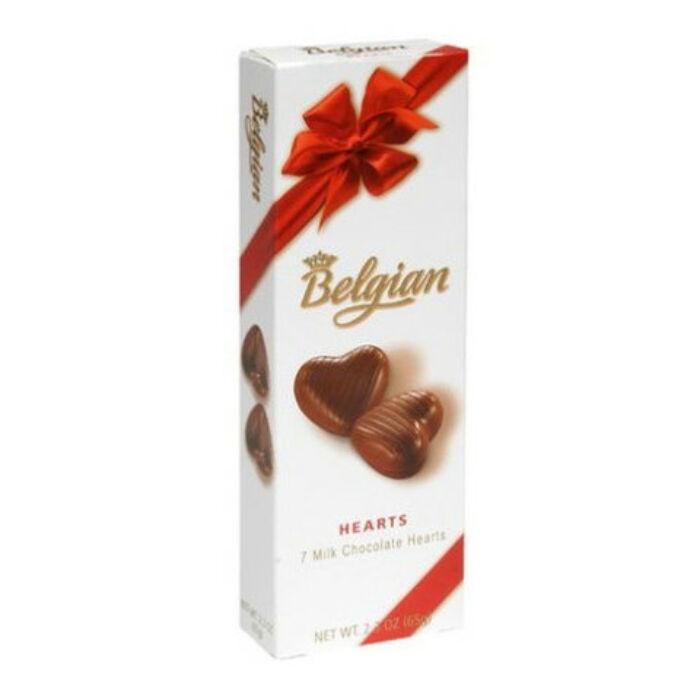 Belgian Hearts Hazelnut Szívdesszert  65g