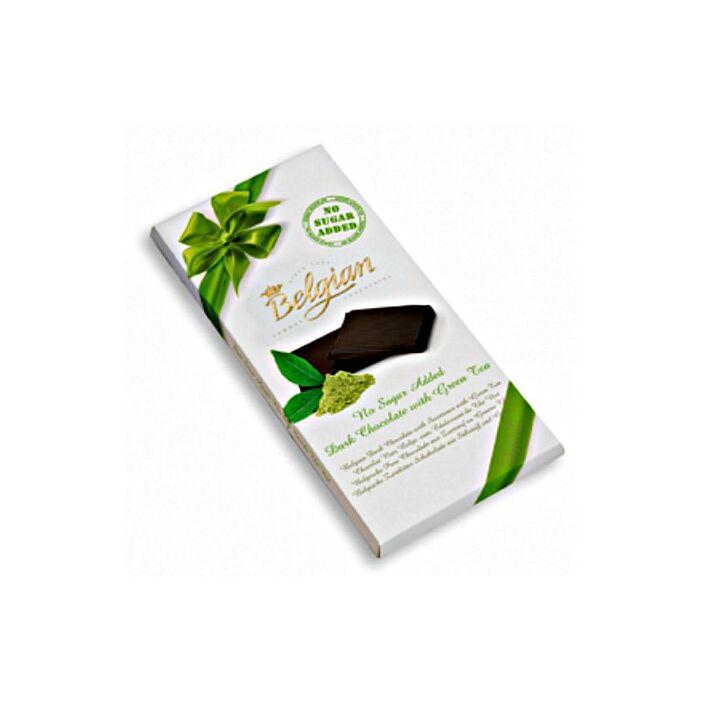 Belgian Cukormentes Zöld Tea Izű Étcsoki 100g