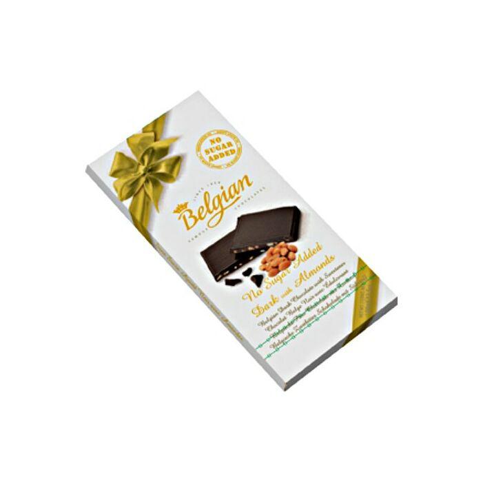 Belgian Mandulás Étcsokoládé Édesítőszerrel 100g