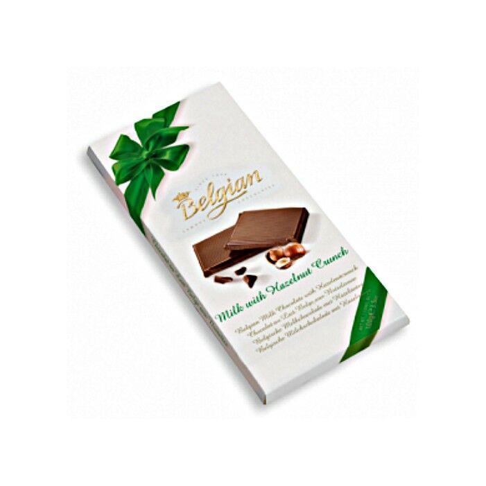 Belgian Tejcsokoládé Ropogós Mogyoróval 100g