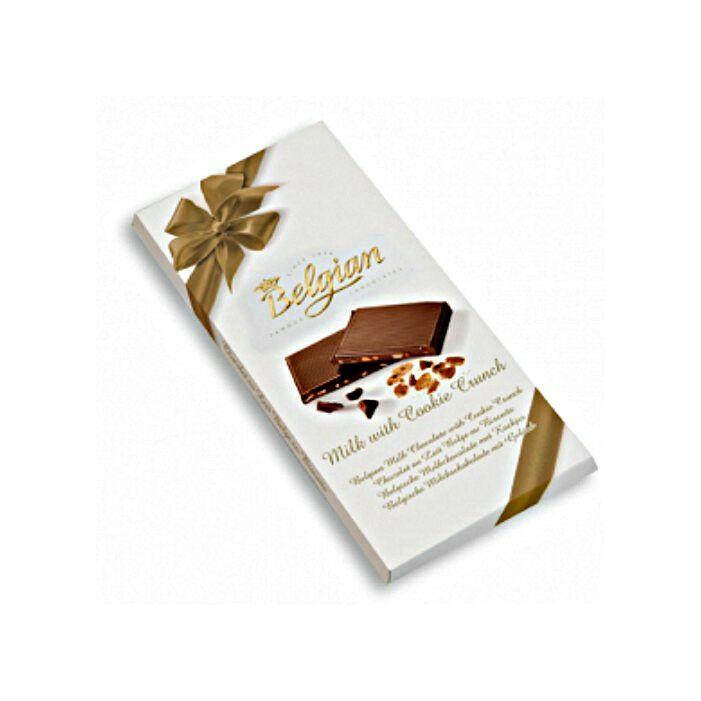 Belgian Tejcsokoládé Ropogós Keksszel 100g