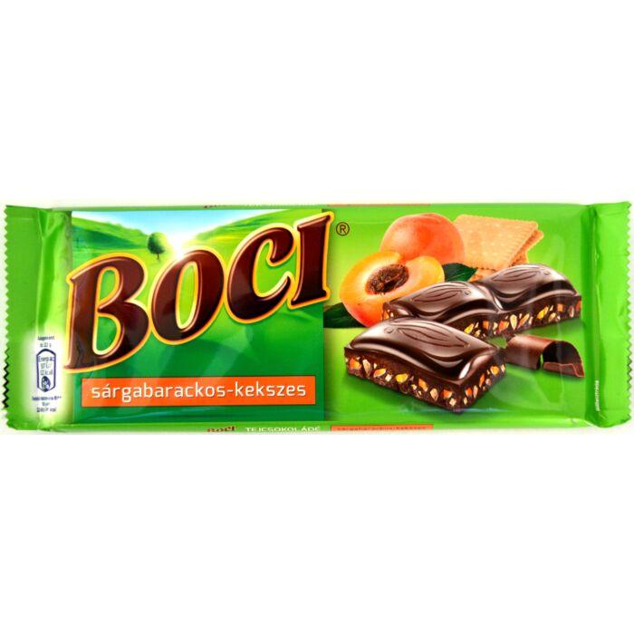 Boci Sárgabarackos-kekszes tejcsokoládé 90g