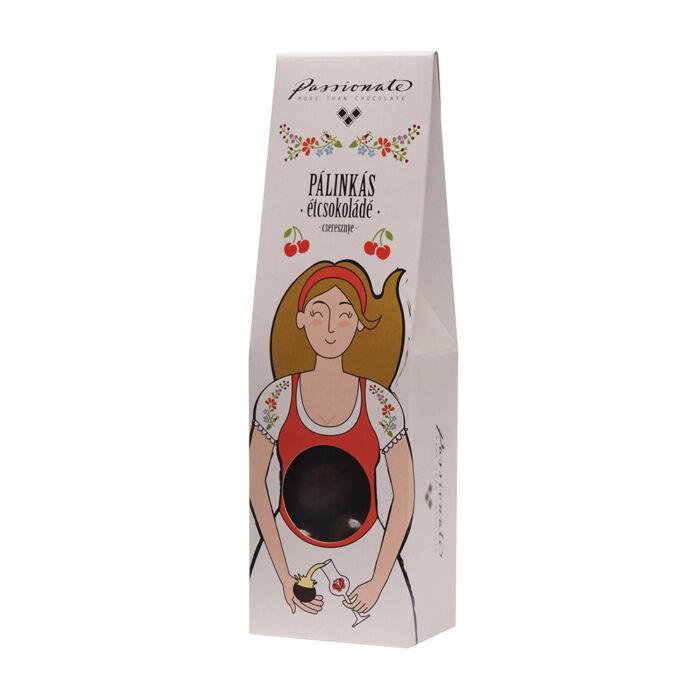 Passionate Cseresznye Pálinkás Étcsokoládé Bonbon Díszdobozban 80g