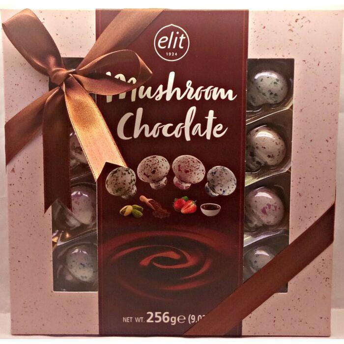 Elit Töltött  Csokoládé Gomba Drazsék 256g