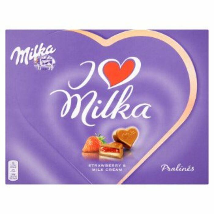 Milka I Love Eper desszert 120g