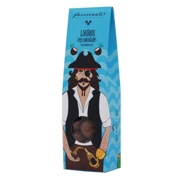 Passionate Rumos-Kókuszos Ízű, Alkoholos Tejcsokoládé Bonbon Drazsé Díszdobozban 80g