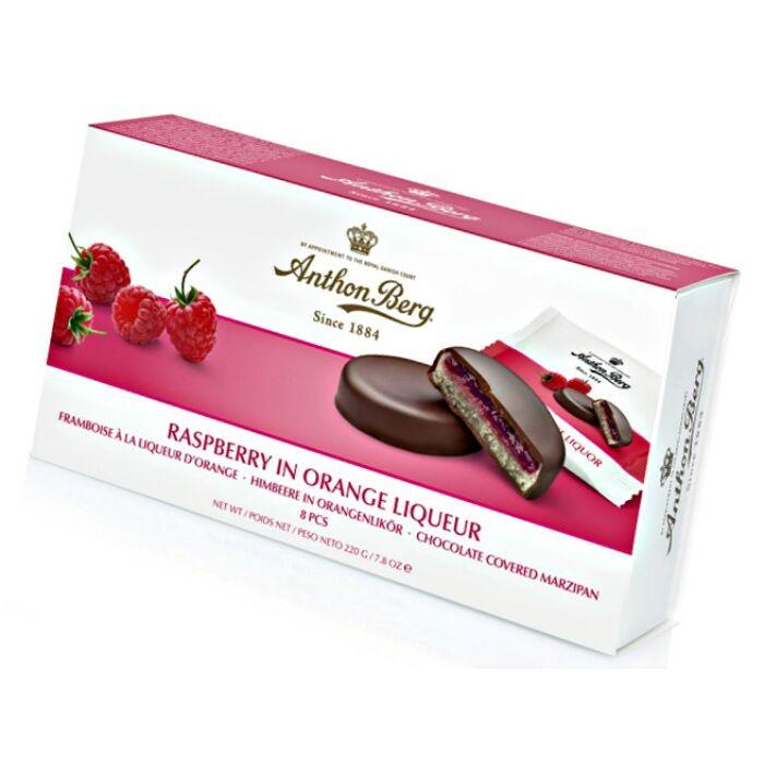 Anthon Berg Chocolate Marcipánnal és Narancslikőrös Málnával 220g