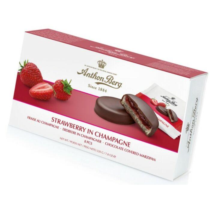 Anthon Berg Chocolate Marcipánnal és Epres Pezsgővel 220g