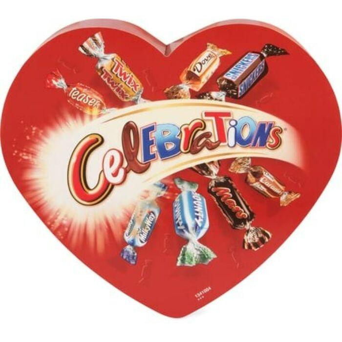 Celebration Szív  Vegyes Töltött Ostyás és Kekszes Tejcsokoládé 215g