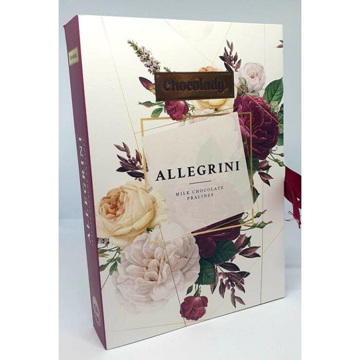 Chocolady Könyv Allegrini Olasz Tejcsokoládé praliné vegyes krémtöltelékkel 150g
