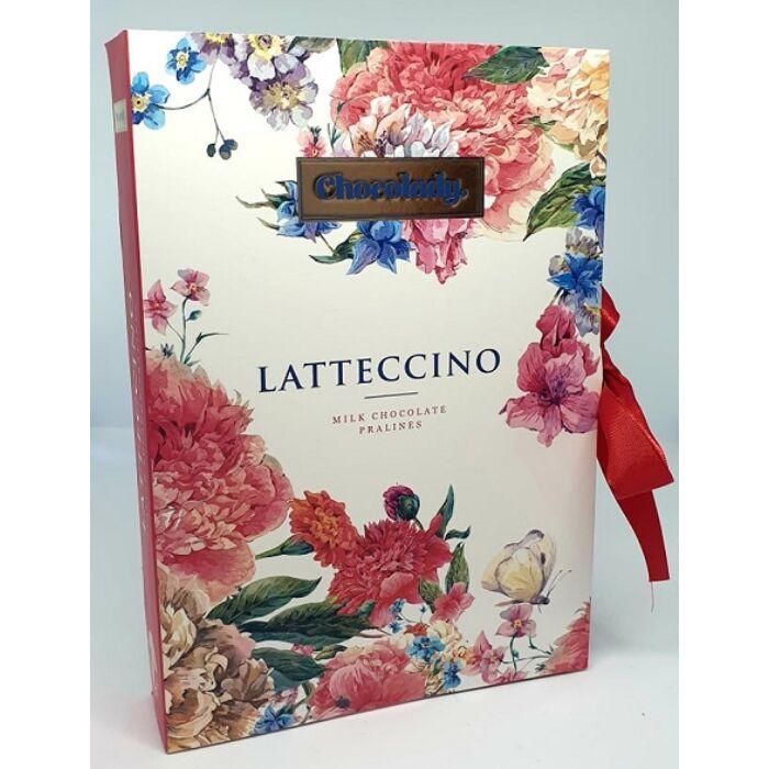 Chocolady Könyv Lattecino Olasz Tejcsokoládé praliné vegyes krémtöltelékkel 150g