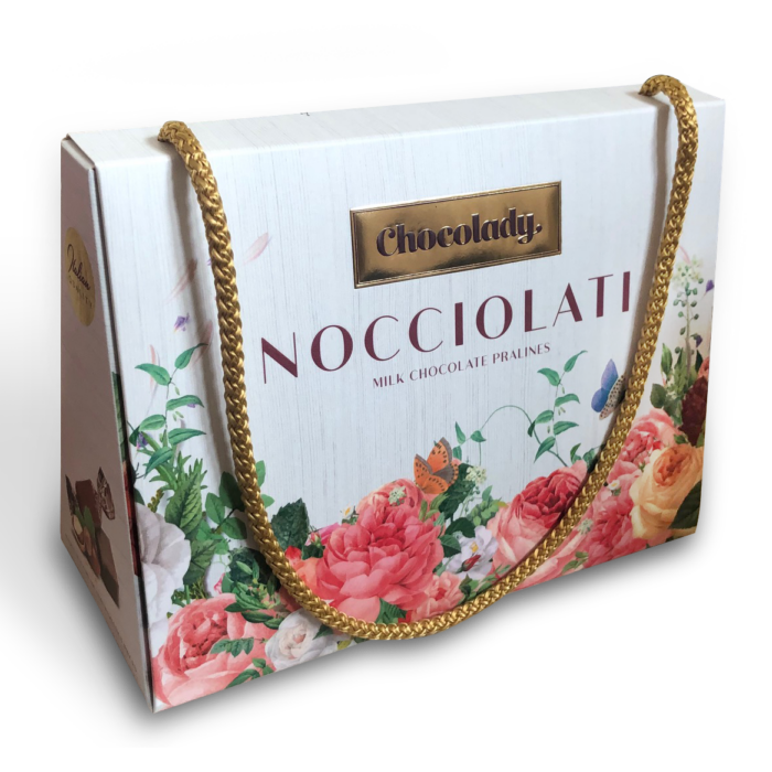Chocolady Olasz Tejcsokoládé Praliné Mogyorókrémmel és Mogyoró Darabokkal Töltve 170g