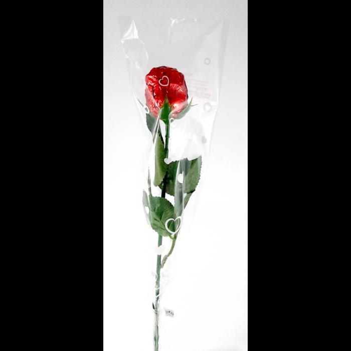 Tejcsokoládé Rózsa Műanyag Száron 20g