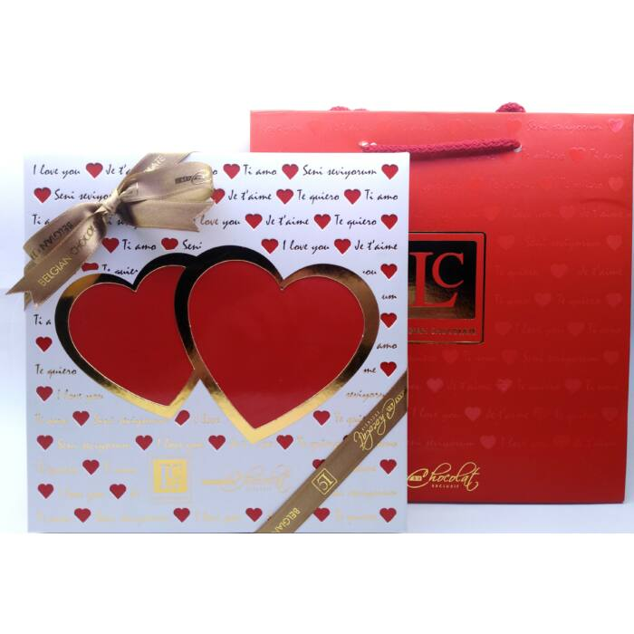L'C Love Box White Belga Csokoládéból 200g