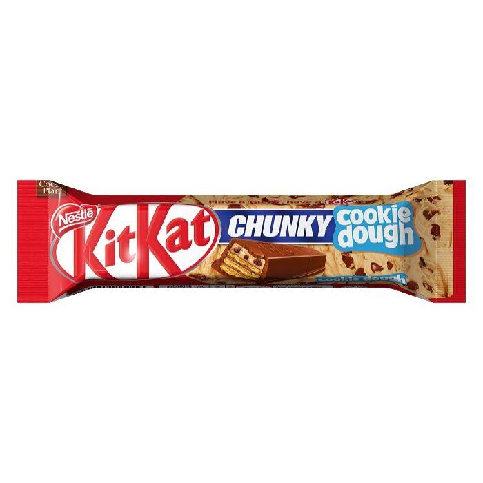 KitKat Chunky Cookie Dough Süteményízű Krémmel Bevont Ropogós Ostya Tejcsokoládéban 42g