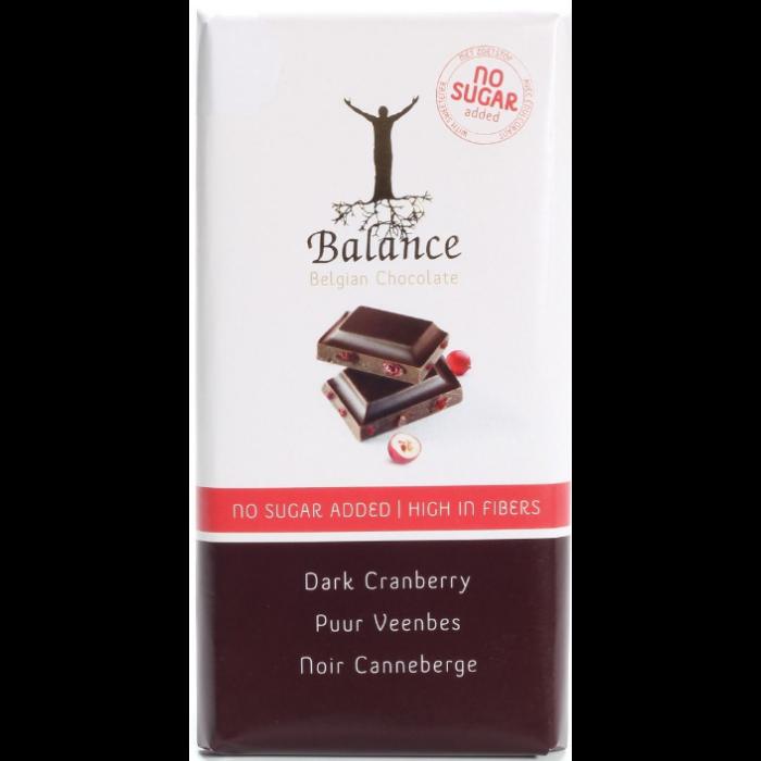 Balance Étcsokoládé Vörös Áfonyával, Maltitollal 85g