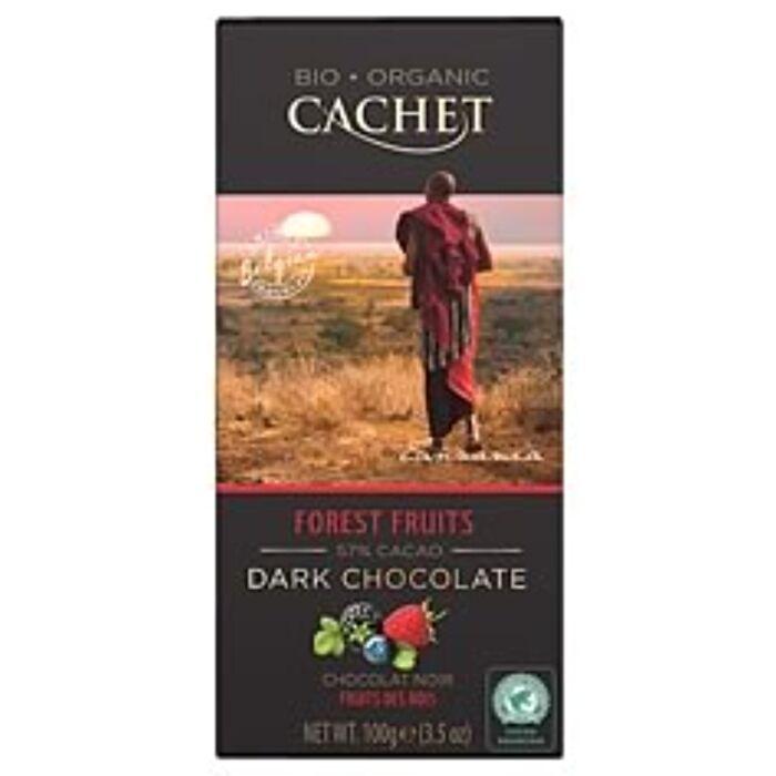 Cachet Belga Bio Étcsokoládé Erdei Gyümölcsökkel  57% 100g
