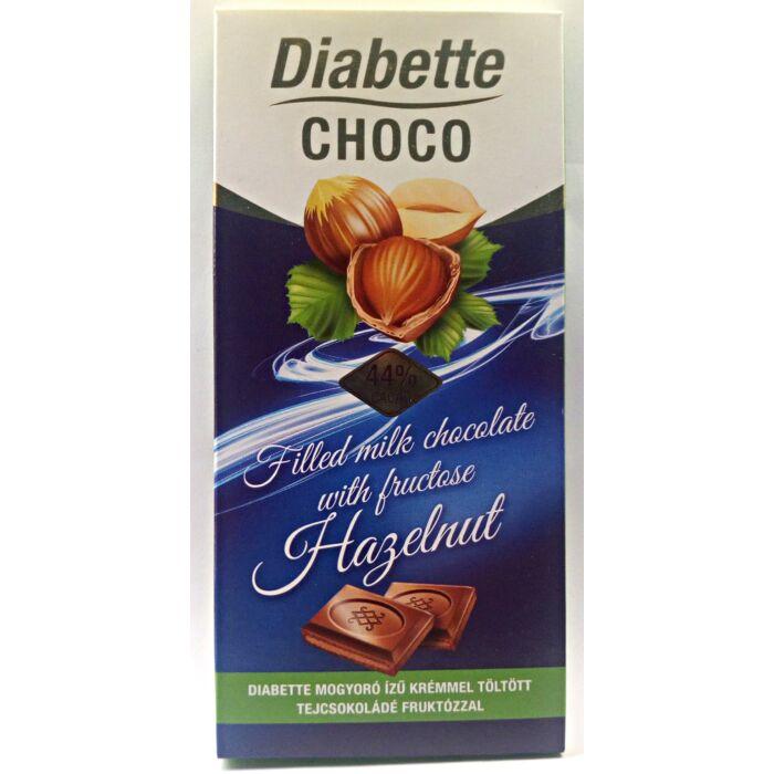 Diabette Choco Mogyoró Ízű Krémmel Töltött Tejcsokoládé Fruktózzal 80g