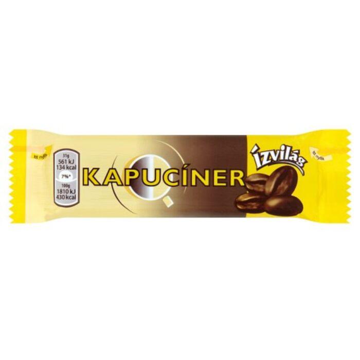 Kapucíner étcsokoládéval bevont szelet kávés és tejszínízű töltelékkel 31g