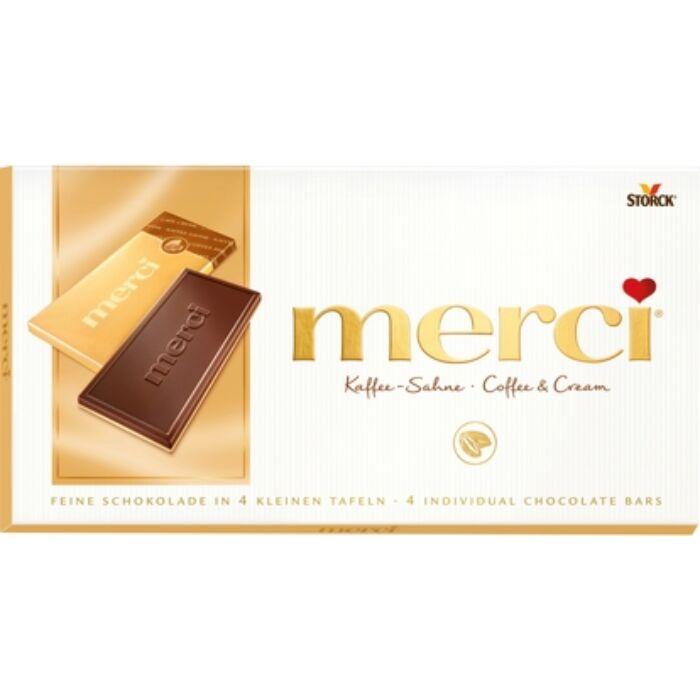 Merci Tejszines-Kávés Táblás Csokoládé 100g