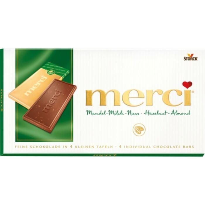 Merci Mogyorós-Mandulás Táblás Csokoládé 100g