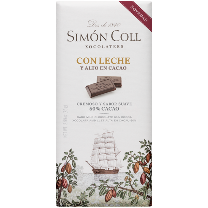 Simon Coll Gluténmentes 60%-os Tejcsokoládé 85g