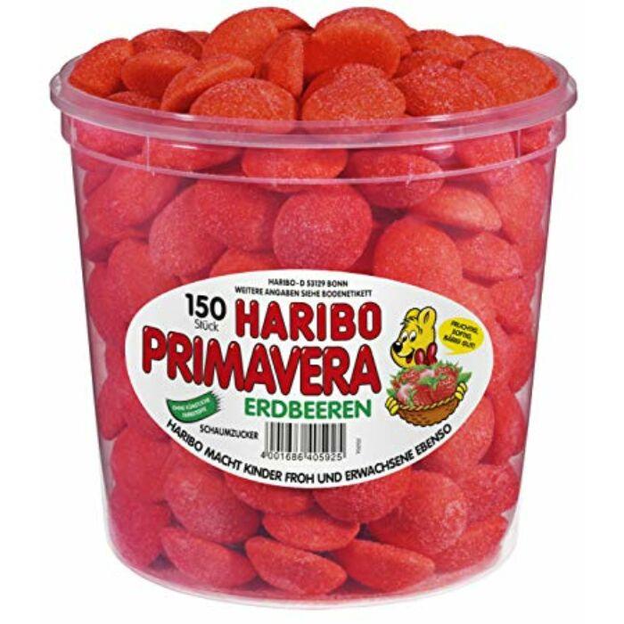 Haribo Tégelyes Primavera Gyümölcsízű Habcukor  1050g
