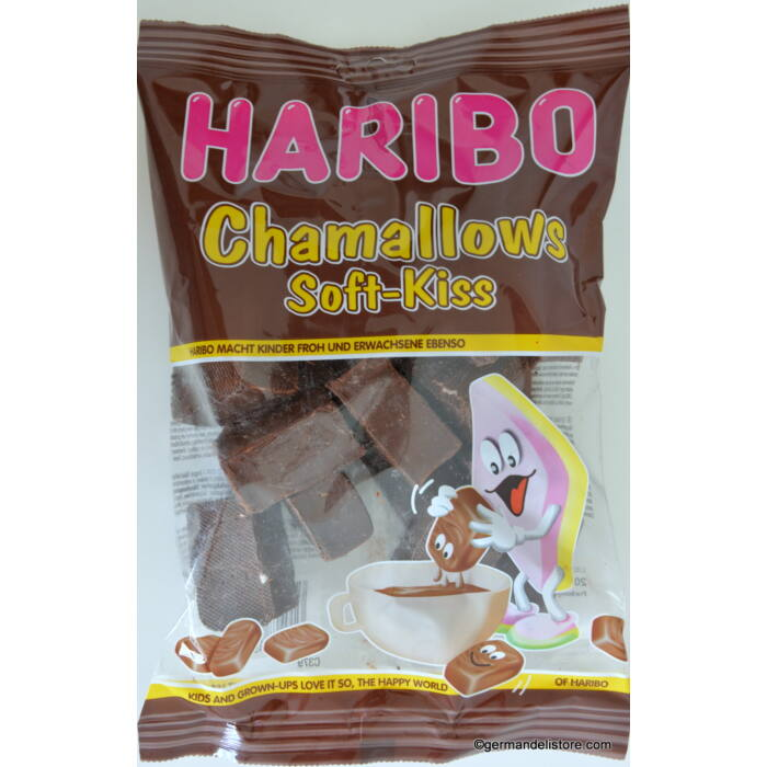 Haribo Chamallows Soft Kiss Mályvacukor Kakaós Bevonattal 300g