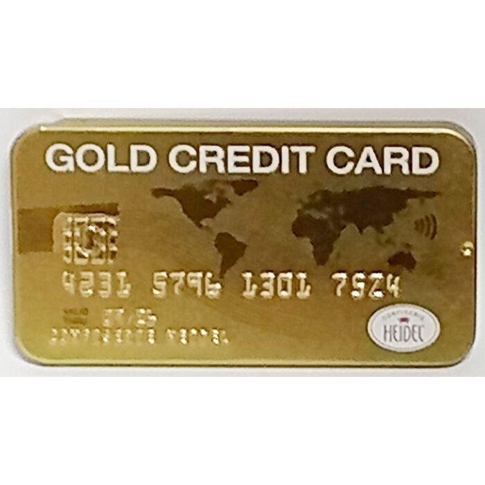 Heidel Tejcsokoládé Arany Credit Kártya Fémtartóban 30g
