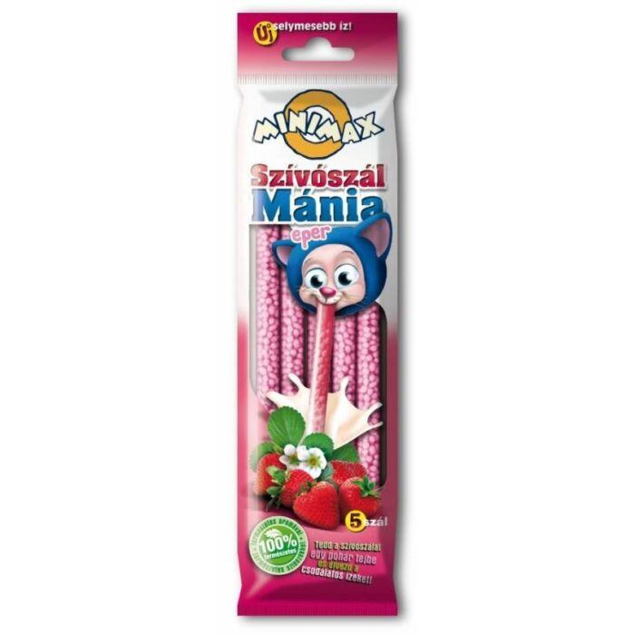 Minimax Szívószál Mánia Eper Ízben( 5db*6g) 30 g