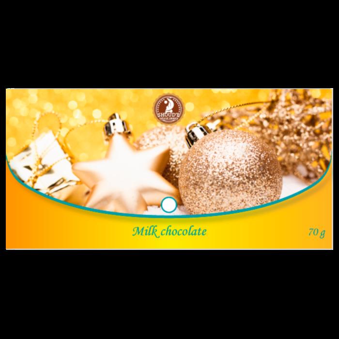 Shoud'e Karácsonyi Női Brifkó táblás tejcsokoládé 70g