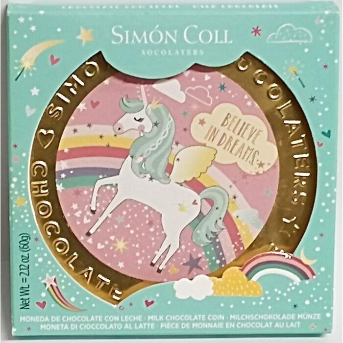 Simon Coll Gluténmentes  Tejcsokoládé Unikornis Érme 60g