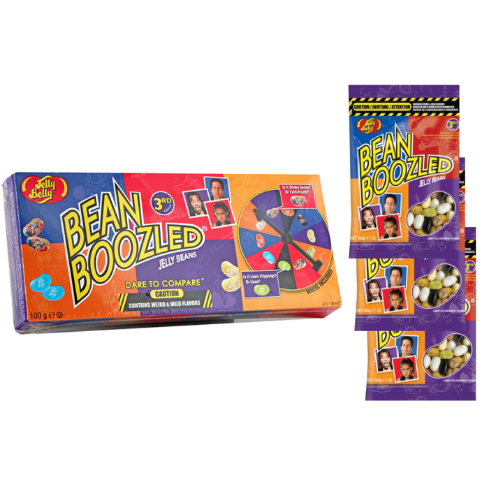 Jelly Belly Bean Boozled Csomag( Játék 3 db 54g-os utántöltővel) 262g