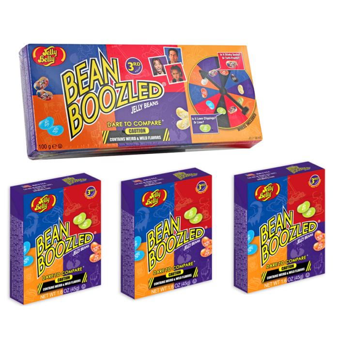 Jelly Belly Bean Boozled (Furcsa ízek) Csomag (Játék 3 db 45g-os utántöltővel) 235g