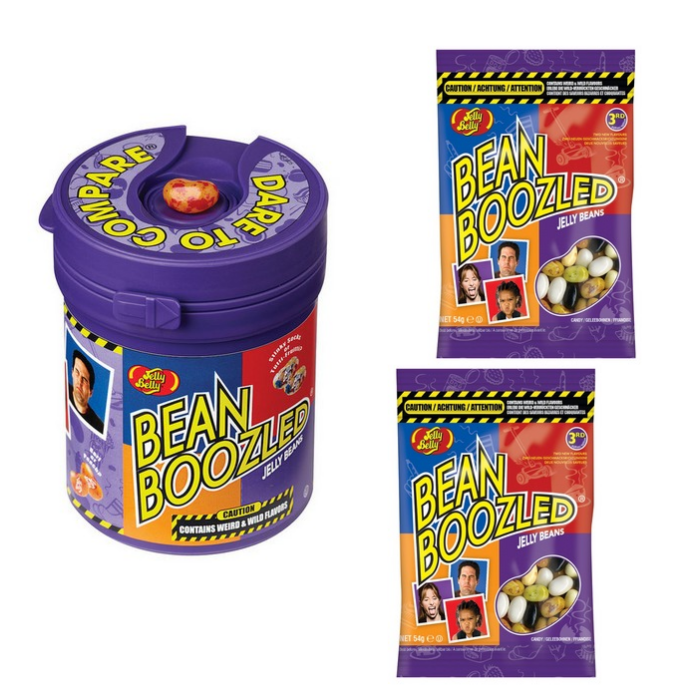 Jelly Belly Bean Boozled Mystery Csomag (egy Mistery játék 2db 54g-os utántöltővel) 207g
