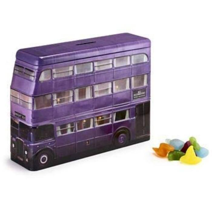 Jelly Belly Fémdobozos Harry Potter Lovag Busz Persely Gumicukorral 112g