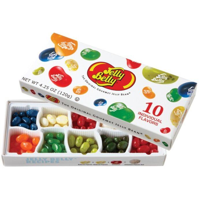 Jelly Belly Ajándékdoboz, 10 féle ízválogatás 125g