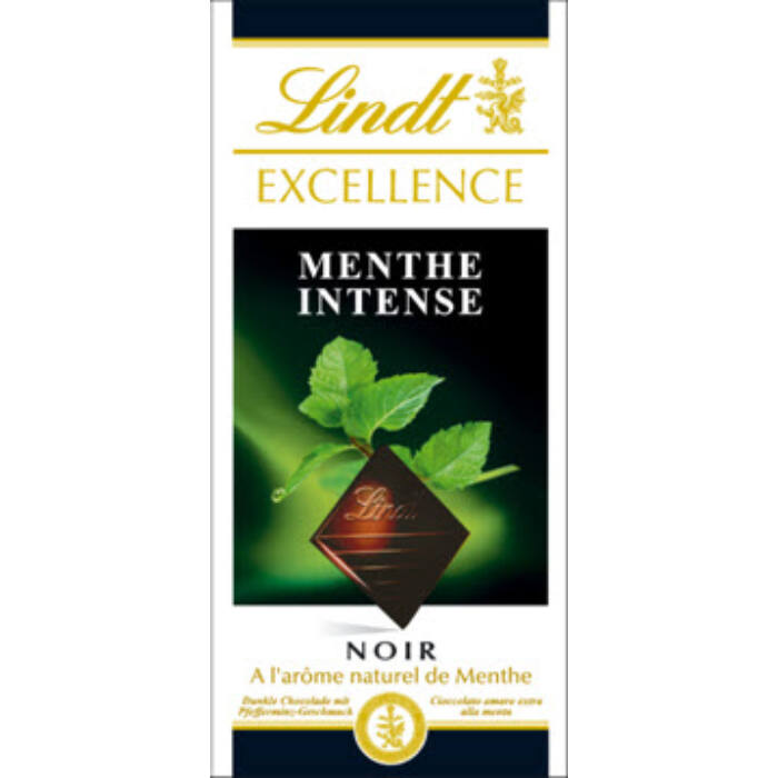 Lindt Excellence Mint Menta csokoládé 100g