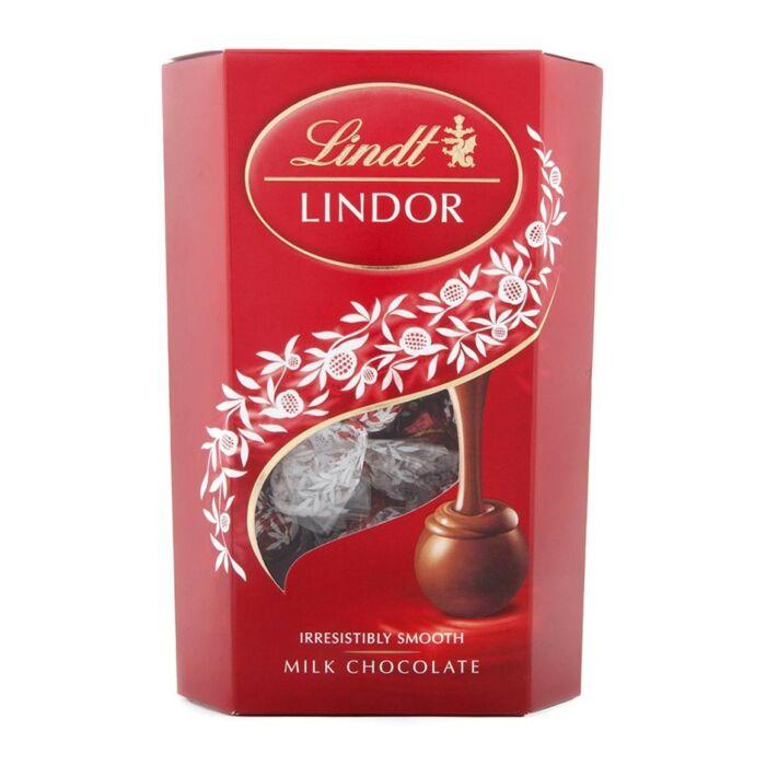 Lindt Lindor Lágyan Olvadó Kakaós Töltelékes Svájci Tejcsokoládé Golyók 200 g