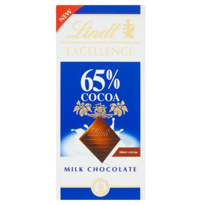Lindt Excellence Magas Kakaótartalmú Tejcsokoládé 65% 80g