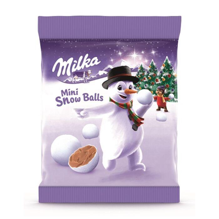 Milka Mini Snow Balls Ropogós Cukorbevonatú Tejcsokoládé Drazsé 100g