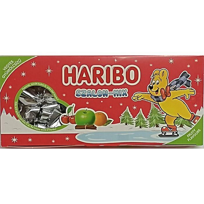 Haribo Szalon-mix Vegyes gyümölcsízű, kandírozott zselés szaloncukor 300g