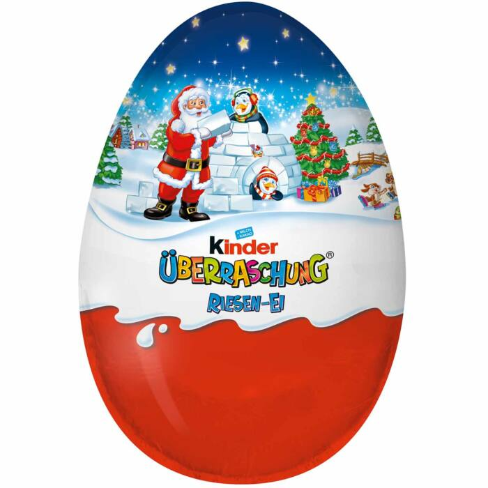 Kinder Karácsonyi Óriás Meglepetés Tojás Fiú 220g