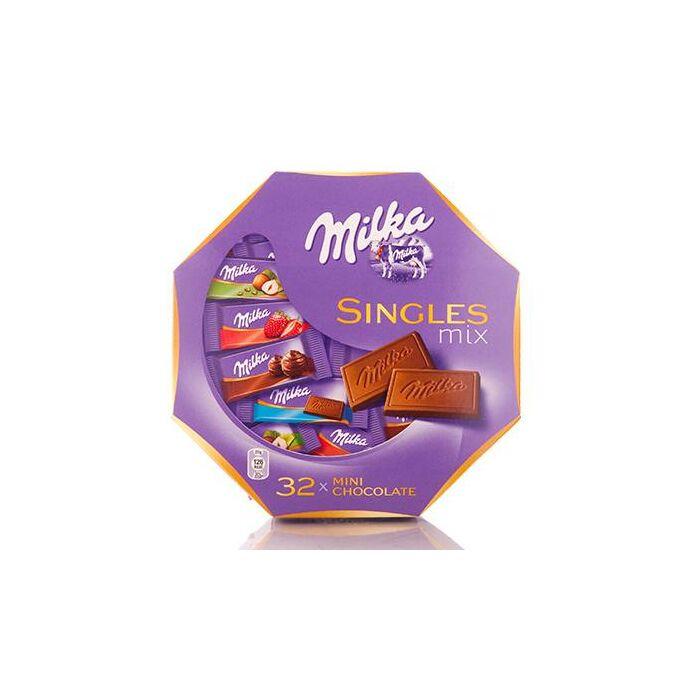 Milka Singles Mix Tejcsokoládé Válogatás 138g (30db)