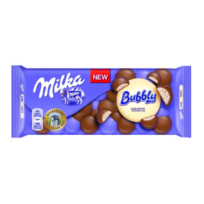 Milka Bubbly fehér csoki 100g