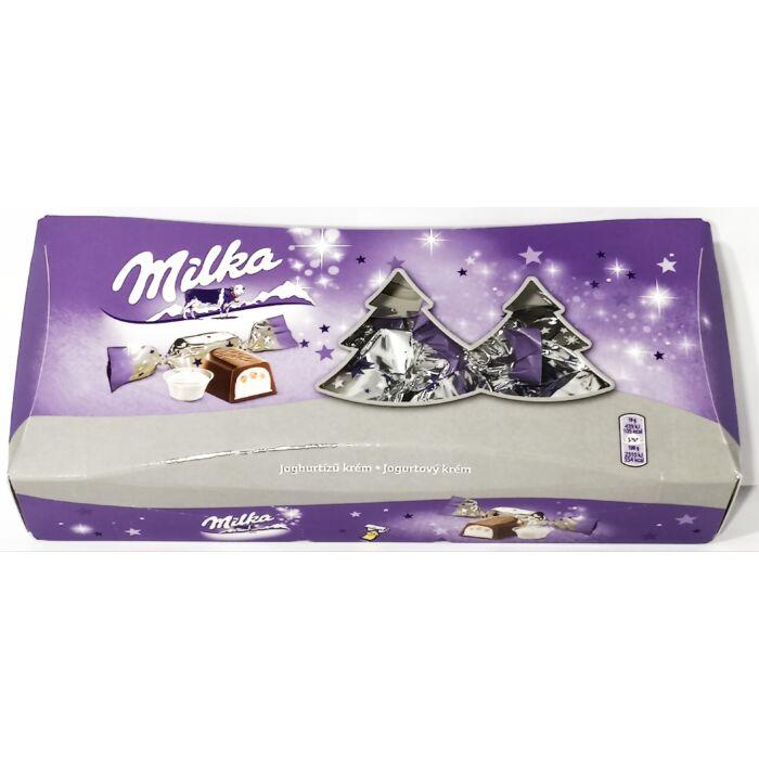 Milka Alpesi Tejcsokoládé Szaloncukor Joghurtízű Krémtöltelékkel 310g